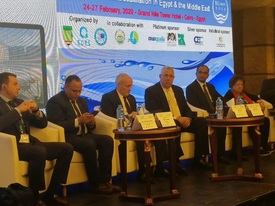 """صورة بالصور.. وزيرا الزراعة والإنتاج الحربي يفتتحان مؤتمر أبحاث تحلية المياه لمواجهة مشاكل """"الندرة"""