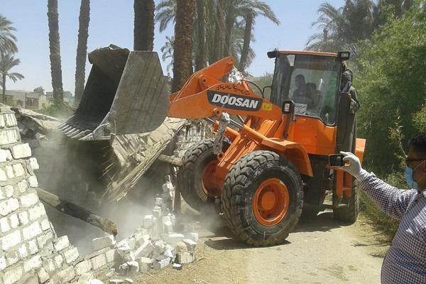 صورة تنفيذ 176 إزالة على نهر النيل والمجاري المائية خلال الأسبوع الثاني من شهر إبريل