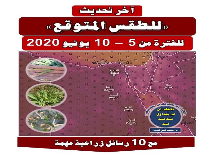 صورة رسائل الدكتور محمد فهيم .. حالة الطقس خلال الأسبوع المقبل حتى 10 يونيو 2020