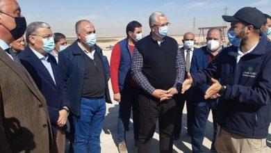 """صورة تفاصيل زيارة وزيرا الزراعة والرى لـ""""المنيا """"وتفقد مزرعة تجريبية للطماطم بغرب المنيا"""