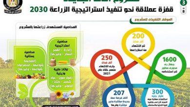 """صورة بالإنفوجراف..""""مشروع الدلتا الجديدة"""".. قفزة عملاقة نحو تنفيذ استراتيجية الزراعة 2030"""
